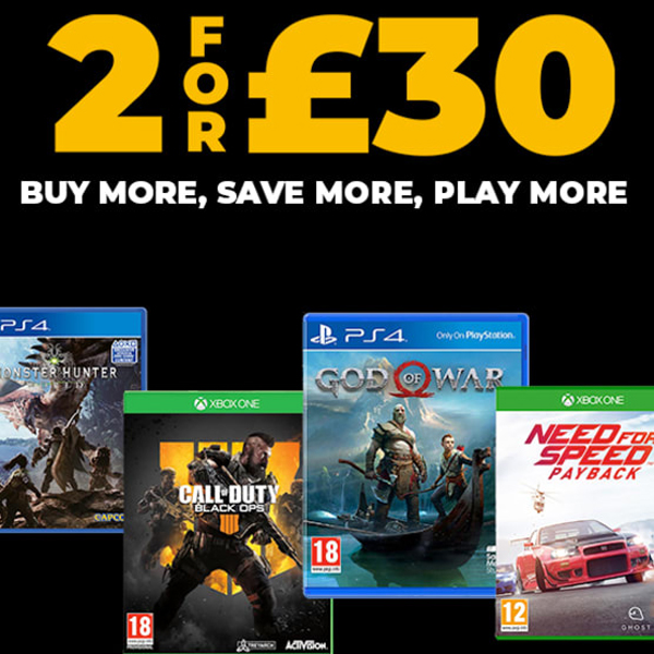 Play on with 2 for £30 at GAME