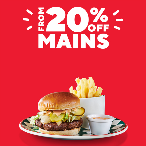 Tuck into 20% off at Frankie & Benny's