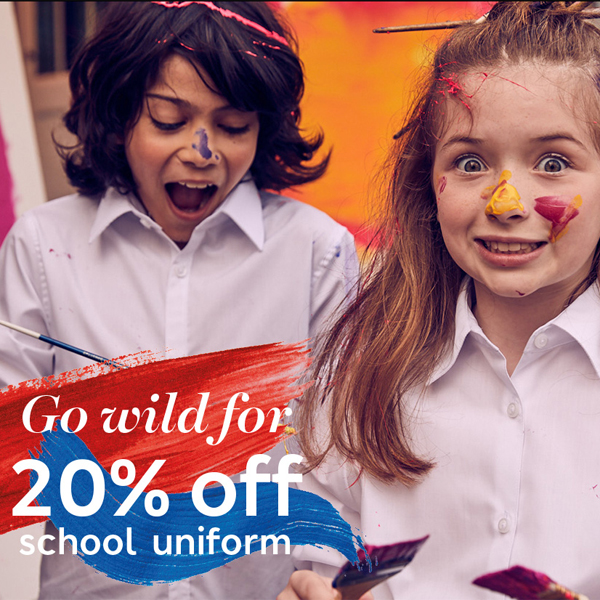 Take 20% off schoolwear at M&S