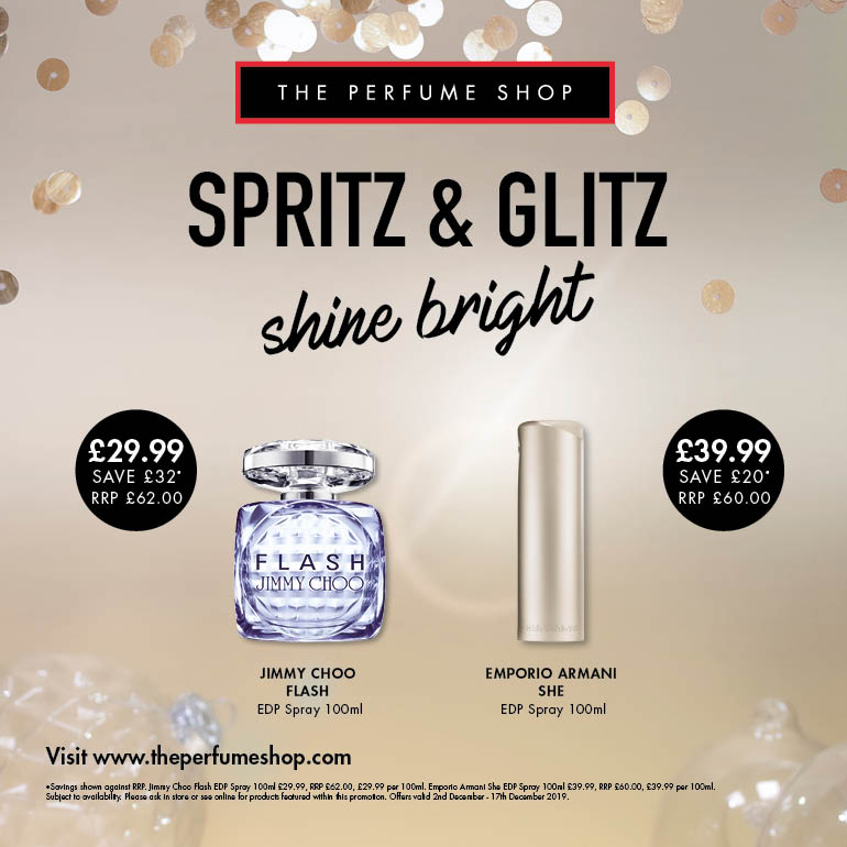 Spritz and glitz at The Perfume Shop