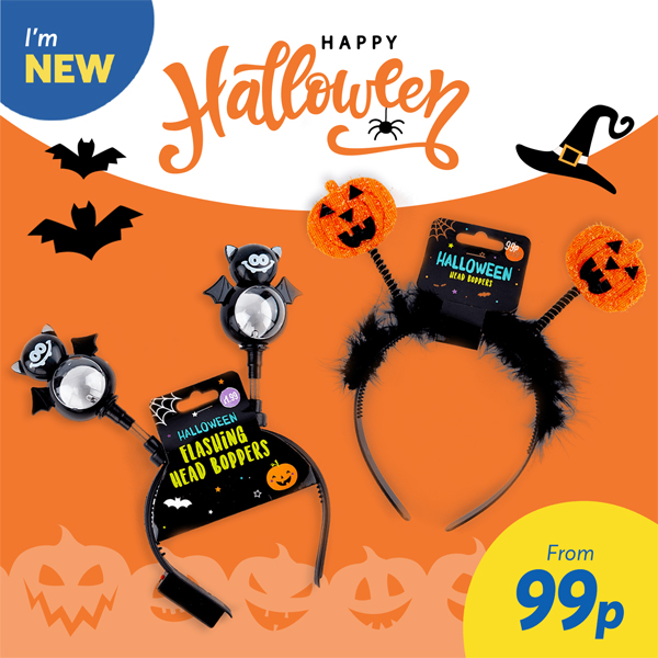 Halloween décor starts at Card Factory