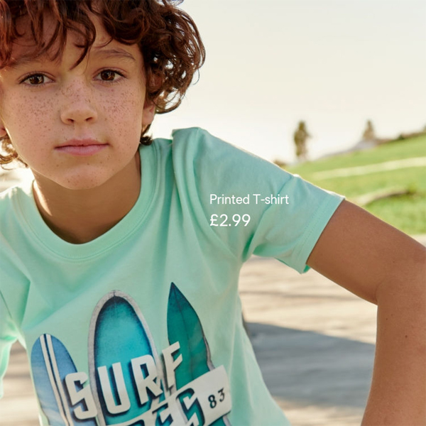 Kids fashion from £1.99 at H&M