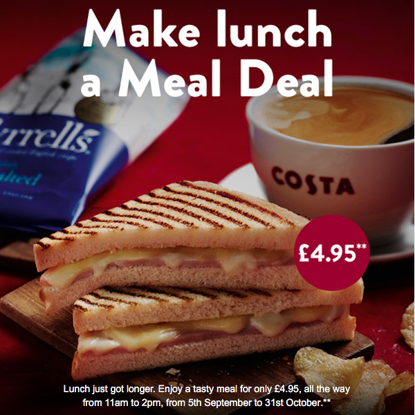 Enjoy a long lunch at Costa