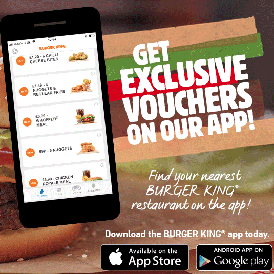 Save with the Burger King app
