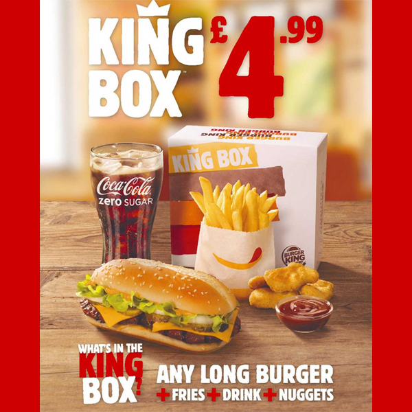 Refuel for only £4.99 at Burger King