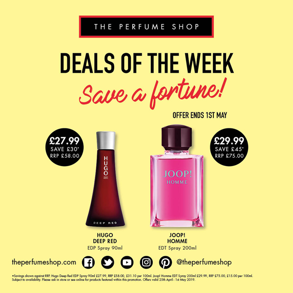 Save a fortune at The Perfume Shop