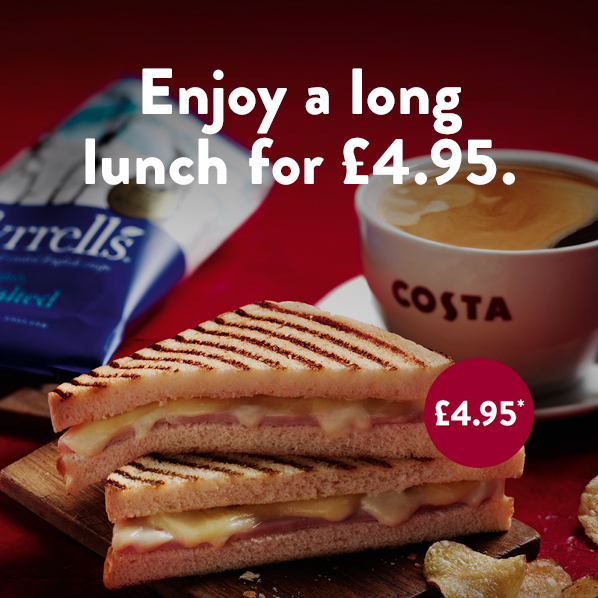 Have a longer lunch at Costa