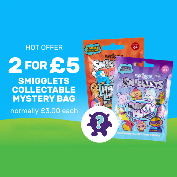 Smigglets are 2 for £5 at Smiggle