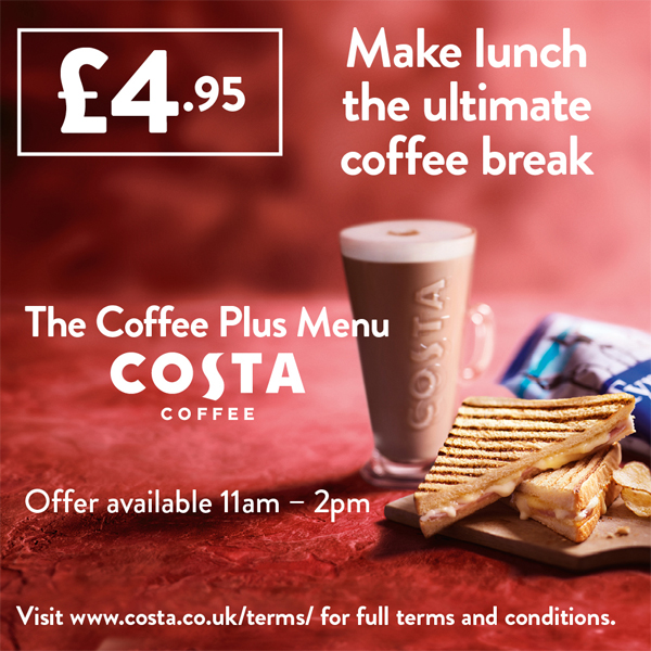 Your £4.95 Costa lunch combo
