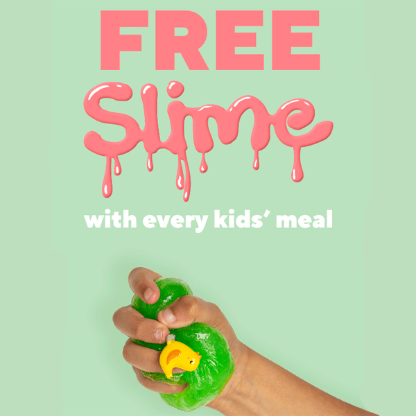Free Slime for kids at Frankie's