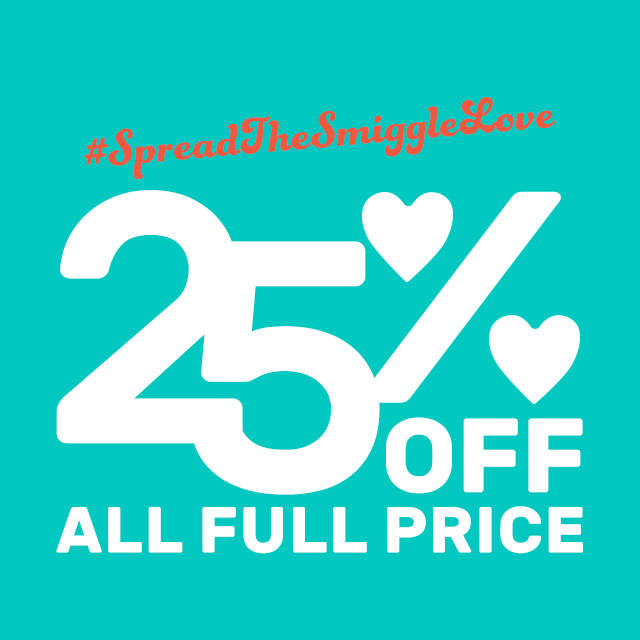 Take 25% off Smiggle this weekend