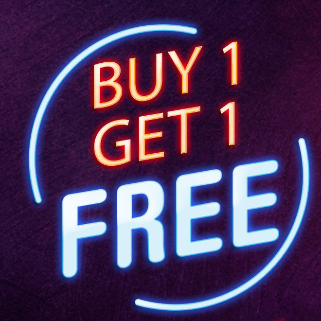 Buy 1 Get 1 Free at Select