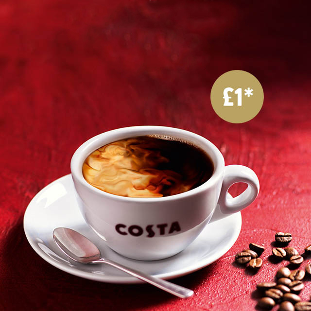 Cosy up with Costa's £1 coffee