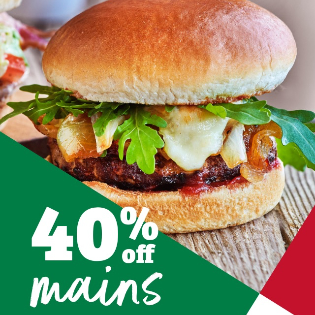 New mains are 40% off at F&B