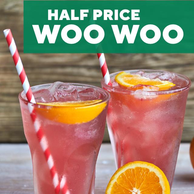 Half price cocktails at F&B